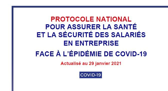 Protocole national 29 janvier 2021 Covid-19